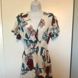 Papermoon Floral Wrap Dress